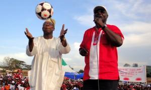Obasanjo and president Koroma