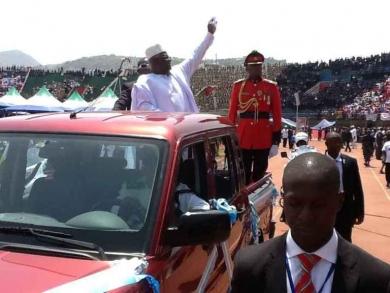 President koroma second term inauguration 2013