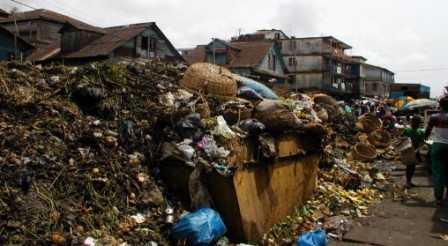 Freetown Streets becoming rubbsih dump