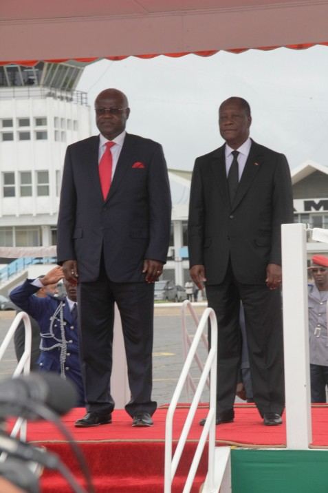 President Koroma and President Quattara - july 2012