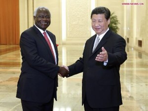 President koroma and chinese leader