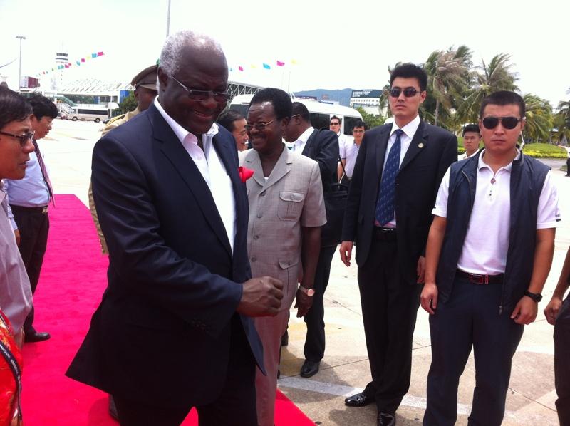 President Koroma in China 2013