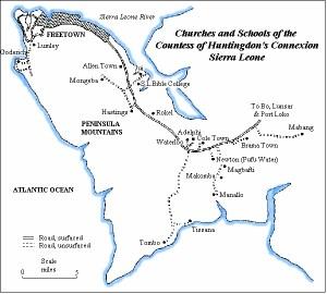 freetown peninsular map