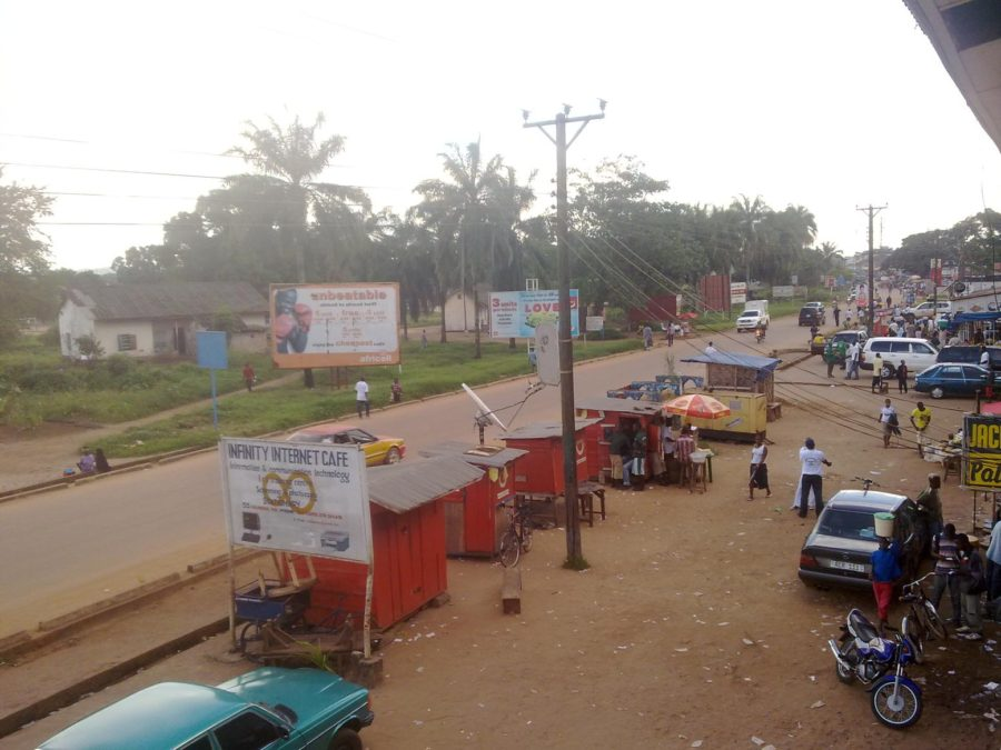 kenema hangha road from capitol hotel view