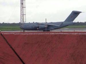 Ebola - RAF palne at Lungi airport