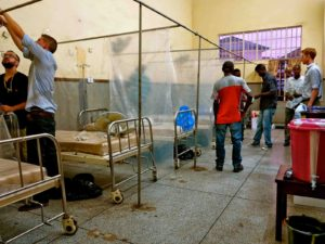 Ebola isolation ward being set up