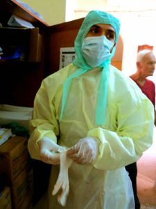 Ebola protective wear at Connauhgt