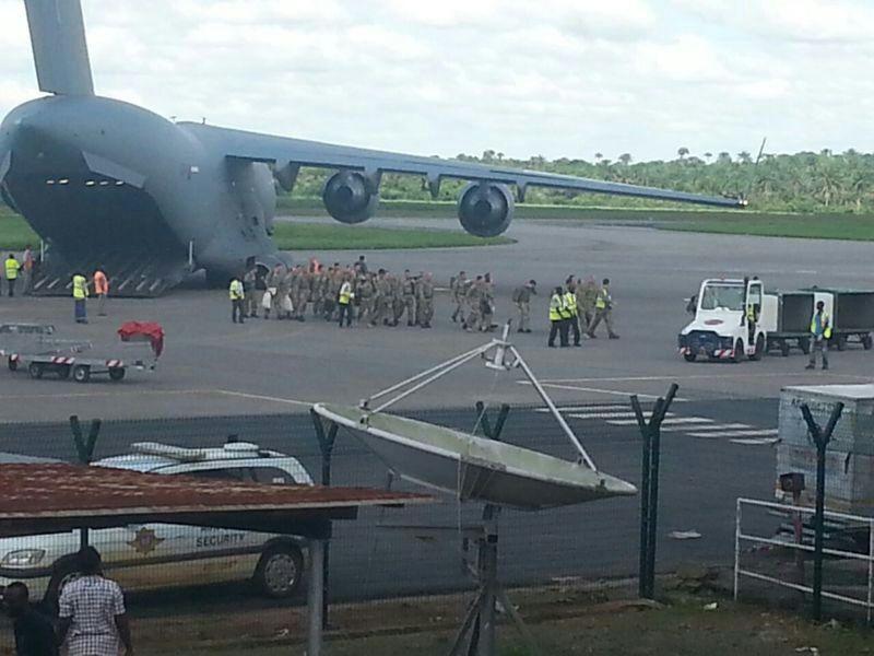 British troops arrive in Freetown