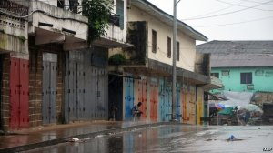 Ebola - shops closed in Freetown
