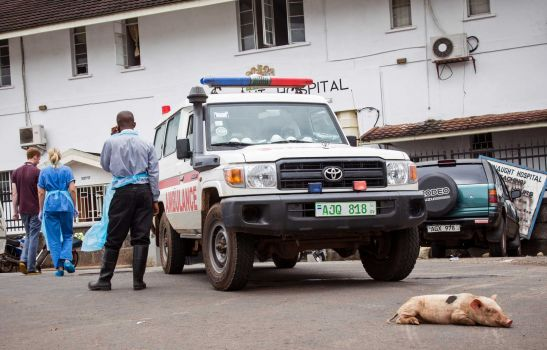 ebola lock down – connaught hospital – AP