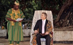 Tony Blair paramount chief
