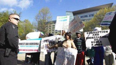 oncerned Sierra Leoneans USA - demonstration against President Koroma