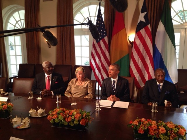 president koroma at White House - 15 April 2015