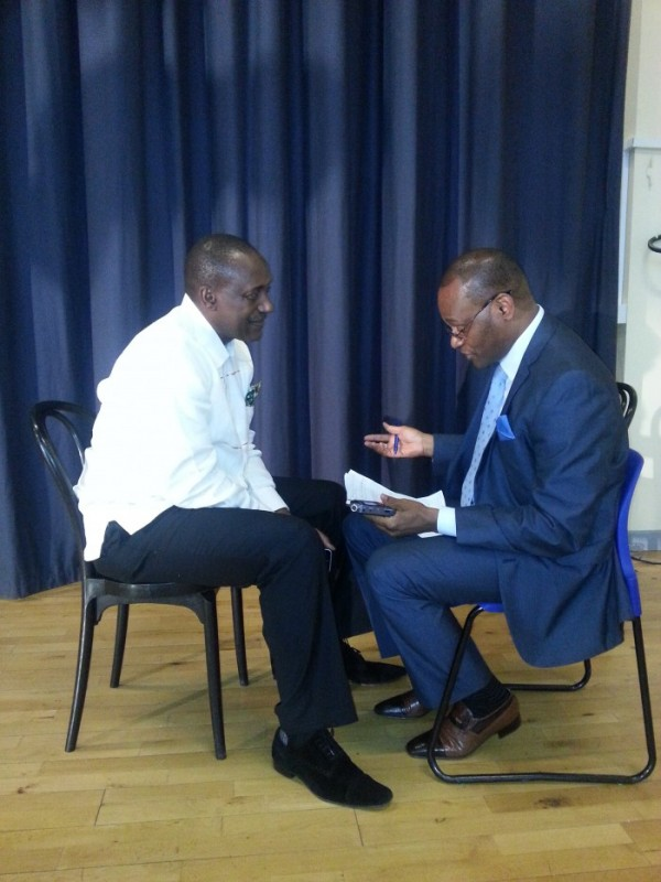 kandeh speaking with Telegraph editor2