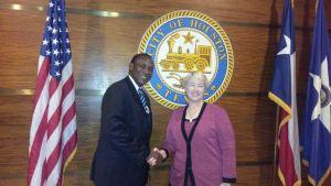 kandeh Yumkella and Mayor of Houston Texas - 2509151