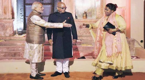 India Africa summit - African leaders show off their Indian fashion sense1