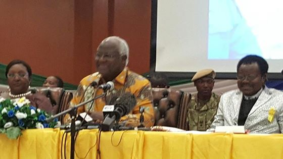 president koroma at end of ebola rally - 071115