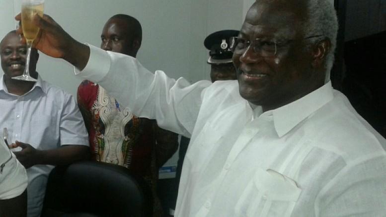 president koroma celebrates end of ebola - 061115
