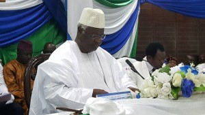 president Koroma state openning of parliament 11 Dec 2015