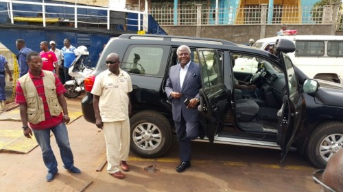 president koroma off to washington - April 2015