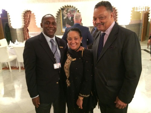 Dr and Mrs Yumkella with the Rev Jesse Jackson