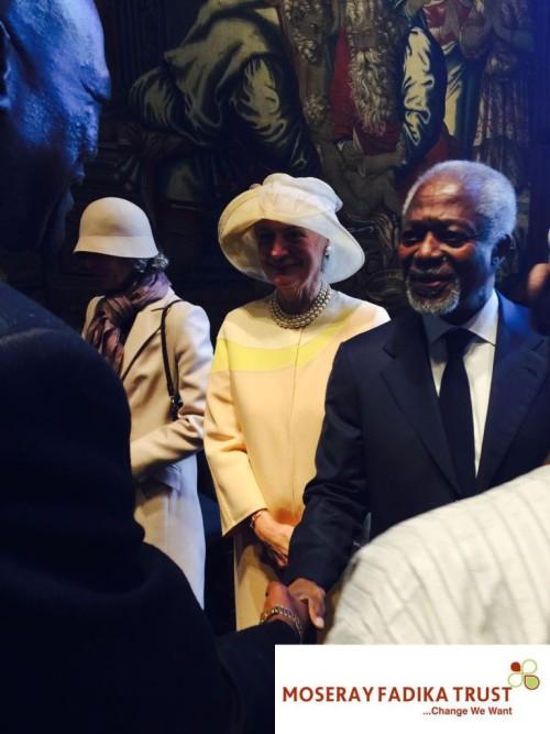 Kofi Annan at the commonwealth event