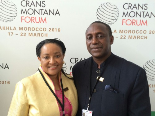 Mrs and Dr Yumkella in Morocco