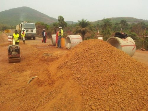 sierra leone - road construction