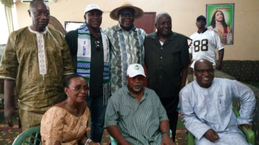 SLPP party bosses at party anniversary celebrations 27 April 2016