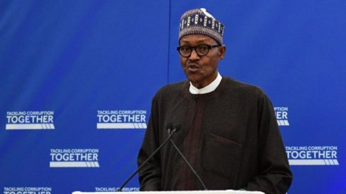Buhari speaks in London about corruption