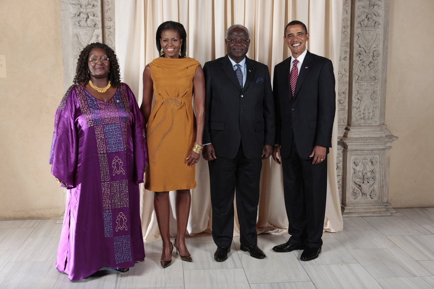 President and Mrs Koroma at the White House