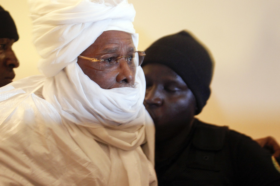 Former Chadian dictator Habre