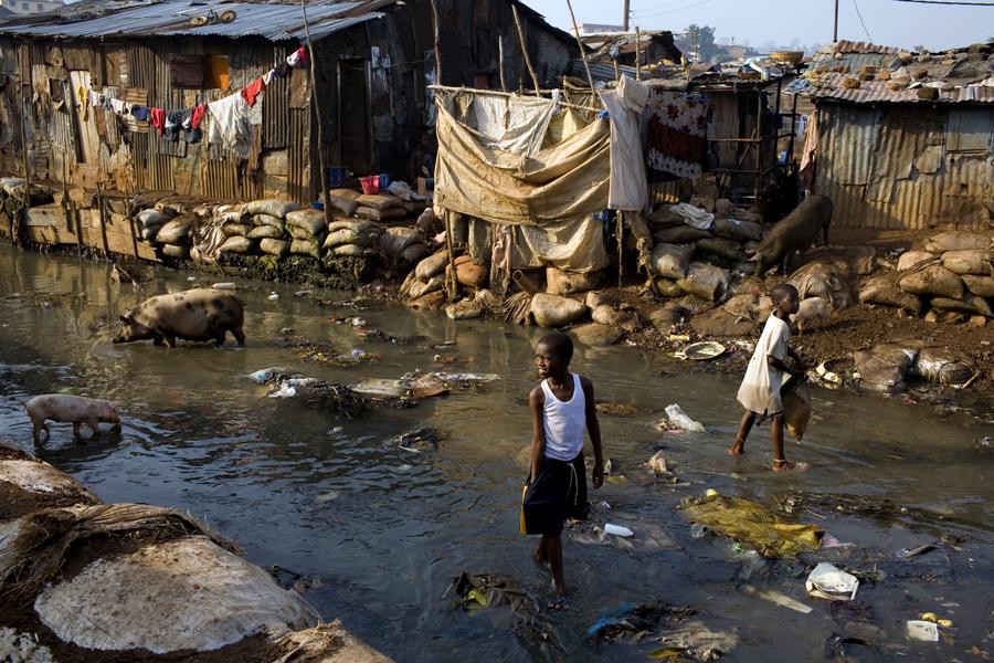 Poverty in Freetown, Sierra Leone.