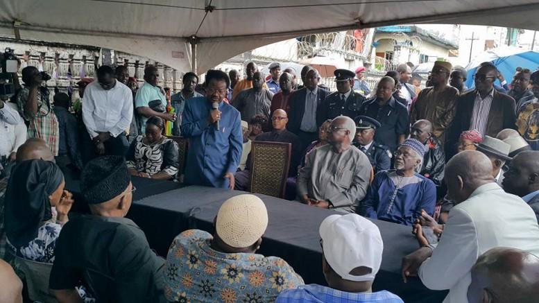 President Koroma and senior APC grandees mourn Fadika