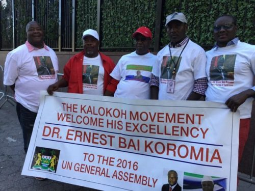tribal-support-for-president-koroma-at-2016-un-conference