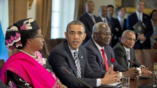 Obama meets African presidents 2013