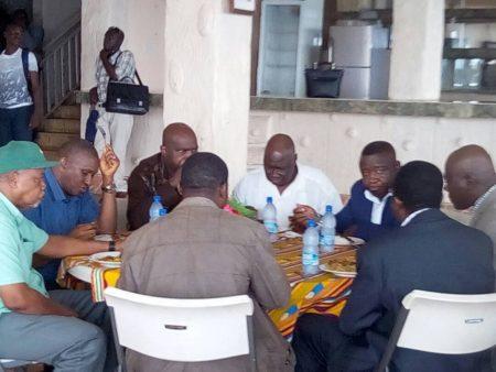 SLPP presidential aspirants and executives pondering the future of SLPP without Yumkella 2