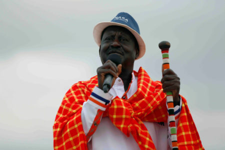 Kenyan opposition leader and presidential candidate Raila Odinga