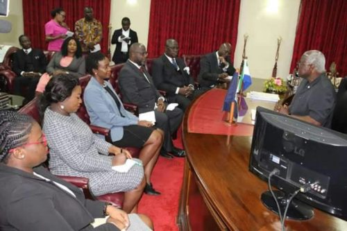 President koroma meets SLBA