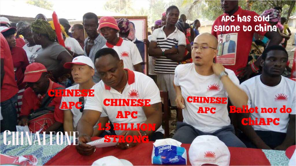 chinese interfere in salone elections