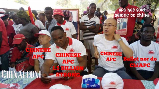 Image result for CHINESE MEN CAMPAIGN IN SIERRA LEONE