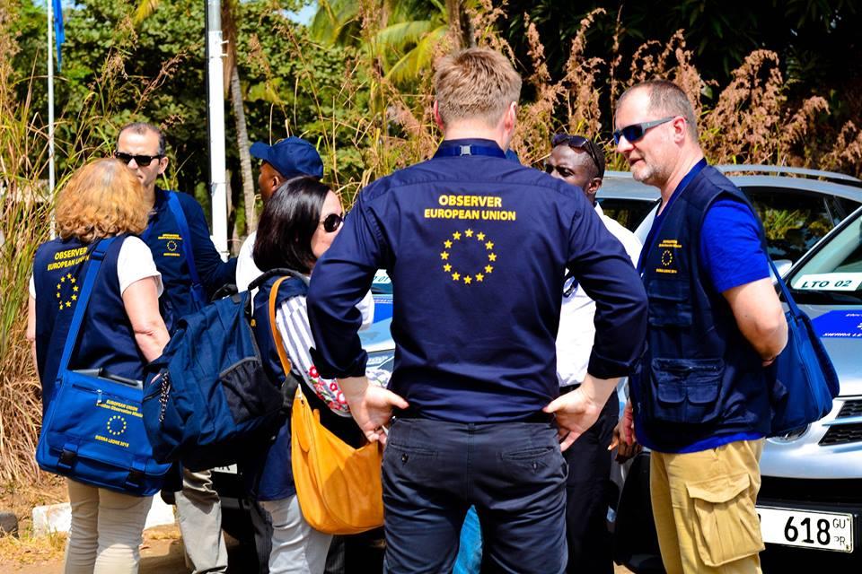 EU ELECTION OBSEREVERS IN SIERRA LEONE 1