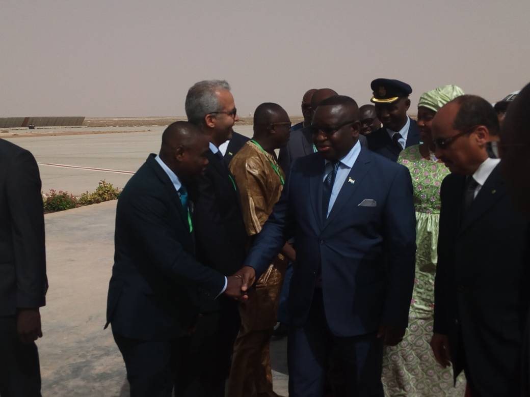 President Bio arrives in Mauritania – 290618