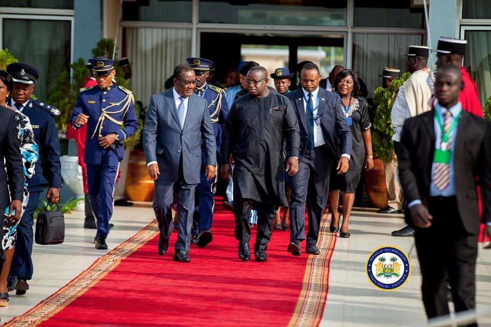 president Bio returns from Togo 2