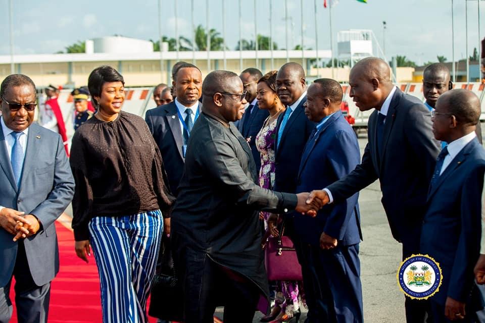 president Bio returns from Togo 3