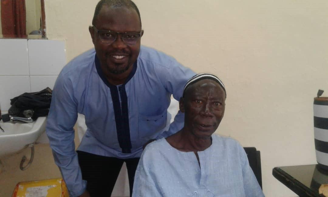 Dr. James Russel and patient Mohamed Kamara