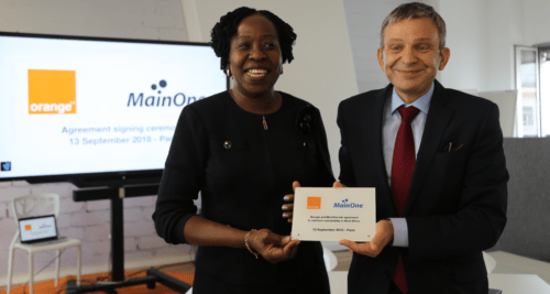 Orange reinforces its connectivity on the West African Coast Agreement signing MainOne4