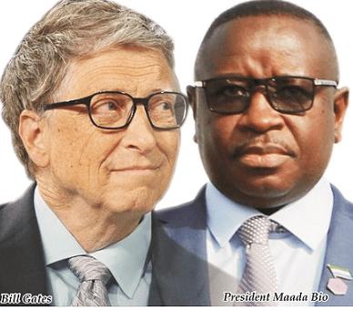 president Bio and Bill Gates at the UN – sept 2018