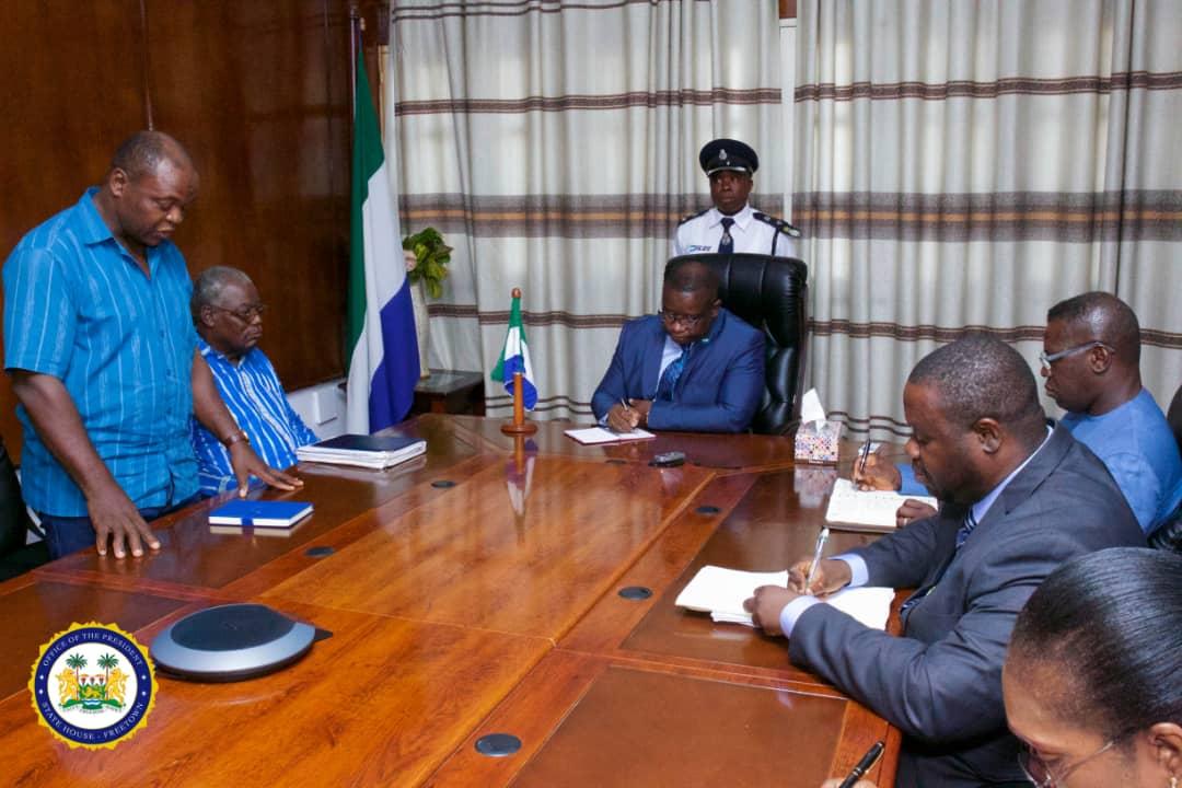 president Bio meets labour congress 1