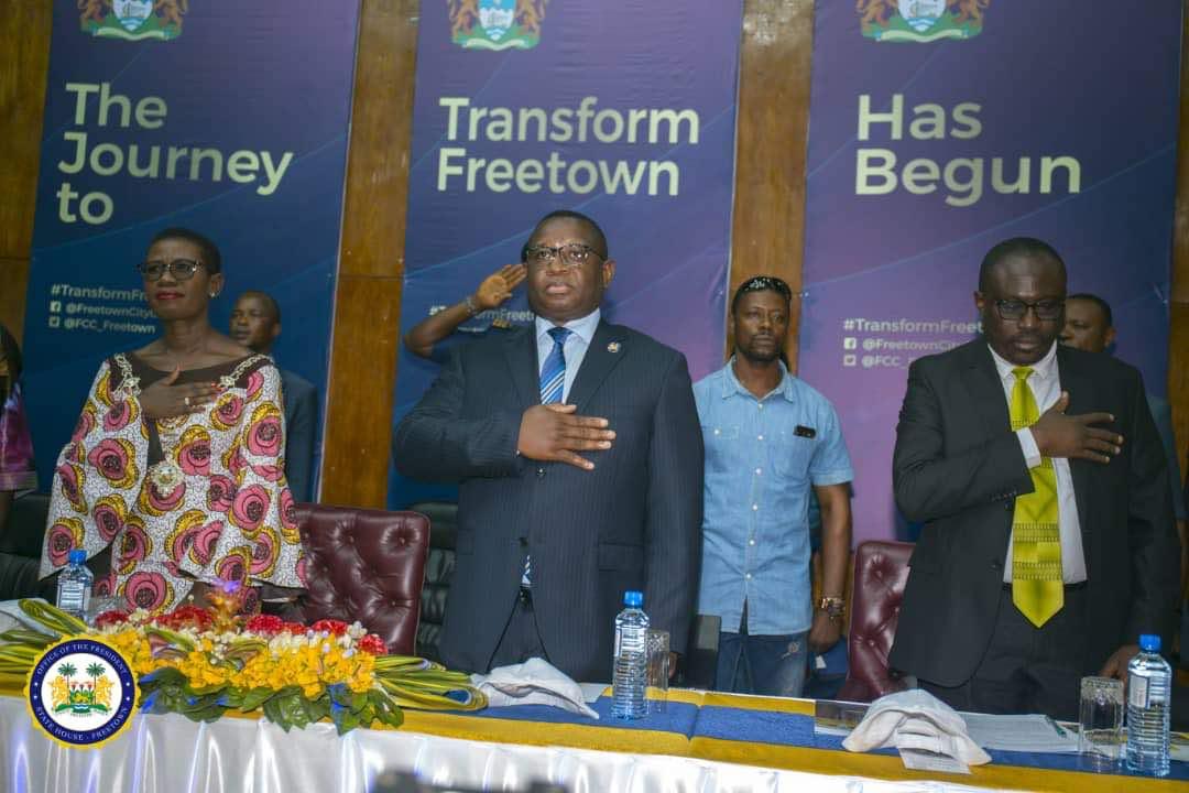 Mayor Aki Sawyerr and Bio launches transform Freetown 7